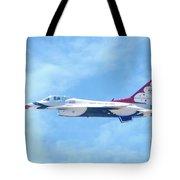 Air Force F-16 Thunderbird Tote Bag