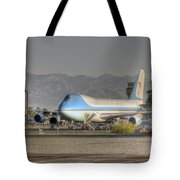 Air Force One In Palm Springs Tote Bag