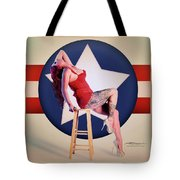 Air Force Pinup With Calypso Jean Tote Bag