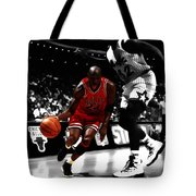 Air Jordan On Shaq Tote Bag