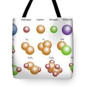 Air Molecules Tote Bag