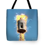 Air Raid Siren Tote Bag