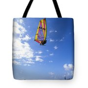 Airborne Over A Calm Ocea Tote Bag