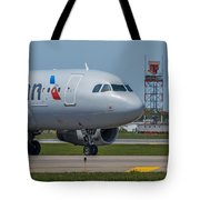 Airbus A319  On Taxi Tote Bag