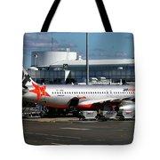 Airbus A320-232 Tote Bag by Tim Beach