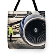 Airbus Engine Tote Bag by Stelios Kleanthous