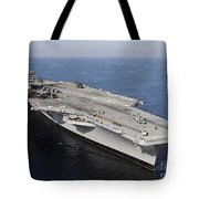 Aircraft Carrier Uss Carl Vinson Tote Bag