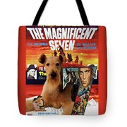 Airedale Terrier Art Canvas Print - The Magnificent Seven Movie Poster Tote Bag