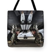 Airmen Check The Gbu-39 Small Diameter Tote Bag by Stocktrek Images