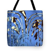 Airplane And Crane Abstract Tote Bag