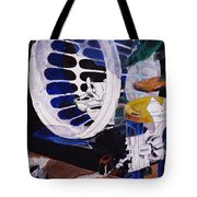 Airplane In A Laundry Basket Tote Bag