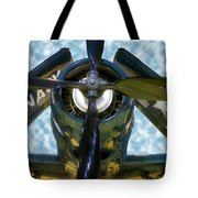 Airplane Propeller And Engine Navy Tote Bag