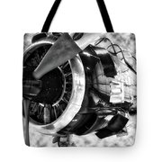 Airplane Propeller And Engine T28 Trojan 02 Bw Tote Bag