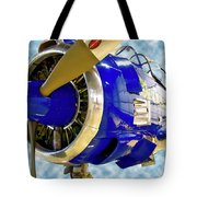 Airplane Propeller And Engine T28 Trojan 02 Tote Bag