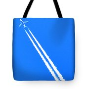 Airplane Thousands Of Feet In The Air Tote Bag