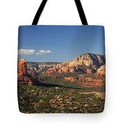 Airport Mesa Overlook At Sunset Tote Bag
