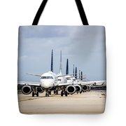 Airport Runway Stacked Up Tote Bag