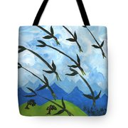 Airy Eight Of Wands Illustrated Tote Bag