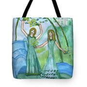 Airy Four Of Wands Illustrated Tote Bag