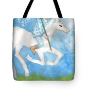 Airy Knight Of Wands Tote Bag