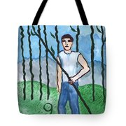 Airy Nine Of Wands Illustrated Tote Bag
