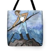 Airy Seven Of Wands Illustrated Tote Bag
