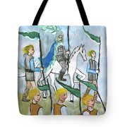 Airy Six Of Wands Illustrated Tote Bag