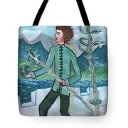 Airy Two Of Wands Illustrated Tote Bag