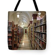 Aisles Of Books Tote Bag
