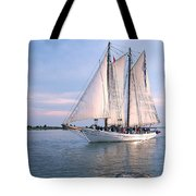 Aj Meerwald Sailing Up River Tote Bag