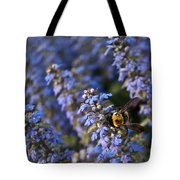 Ajuga And Bumblebee Tote Bag