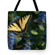 Ajuga With Tiger Butterfly Tote Bag