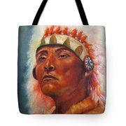 Akecheta, Native American Tote Bag