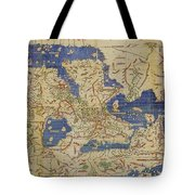 Al Idrisi World Map 1154 Tote Bag by SPL and Photo Researchers
