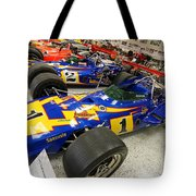 Al Unser Winning Cars At Indianapolis Tote Bag