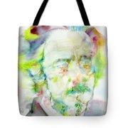 Alan Watts - Watercolor Portrait.3 Tote Bag