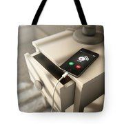 Alarming Cellphone Next To Bed Tote Bag