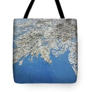 Alaska Map Wall Art Tote Bag