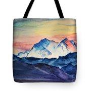 Alaska Mountain Tote Bag