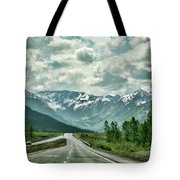 Alaska On The Road  Tote Bag