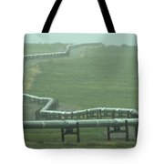 Alaska Pipeline Snakes Its Way Tote Bag