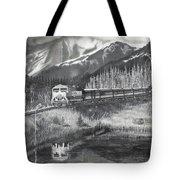 Alaska Railroad Near Whittier Tote Bag