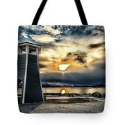 Alaska Starts Here Seward Alaska Tote Bag by Michael Rogers