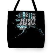 Alaska Word Cloud 1 Tote Bag