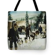 Alaskan Dog Sled, C1900 Tote Bag