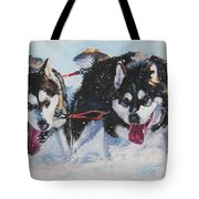 Alaskan Malamute Strong And Steady Tote Bag