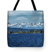 Alaskan Mountain Panorama Tote Bag