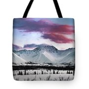 Alaskan Range At Sunset Tote Bag