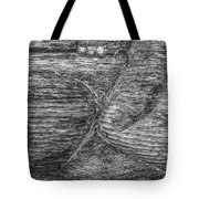 Alaskan Totem Pole Black White Tote Bag