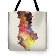 Albania Watercolor Map Tote Bag